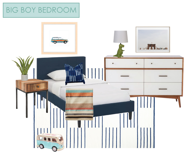 Big Boy Bedroom e-design