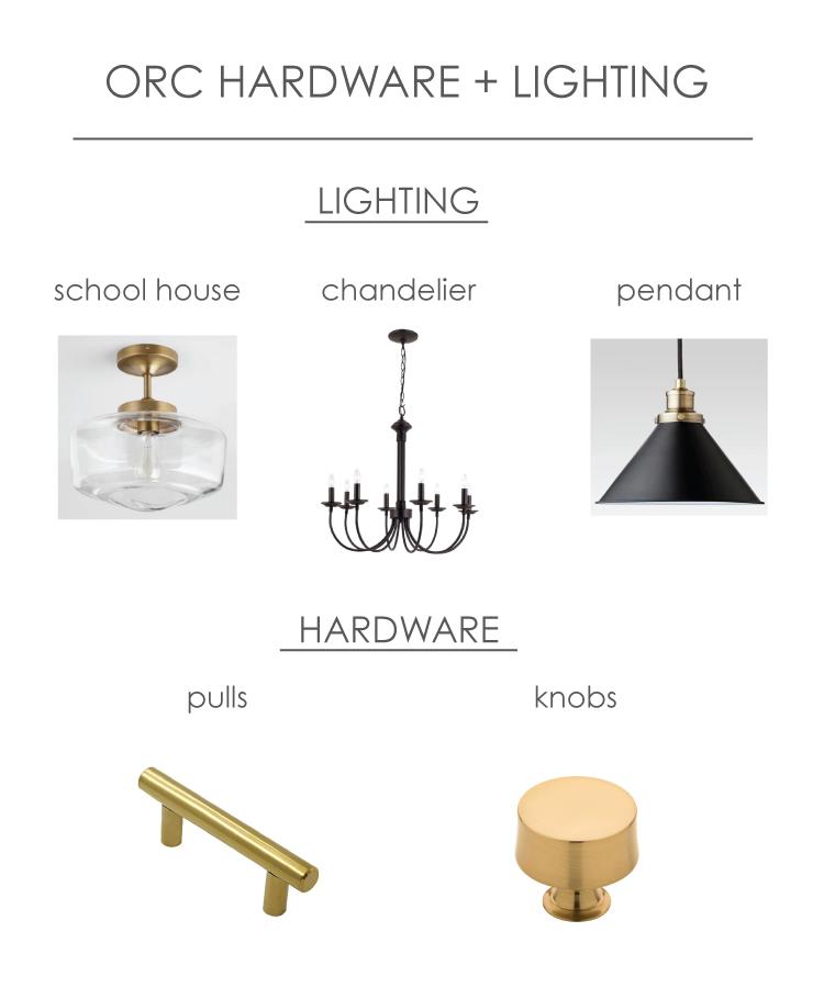 One Room Challenge Lighting and hardware