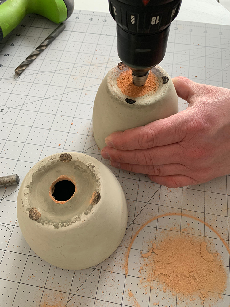 DIY Concrete bells