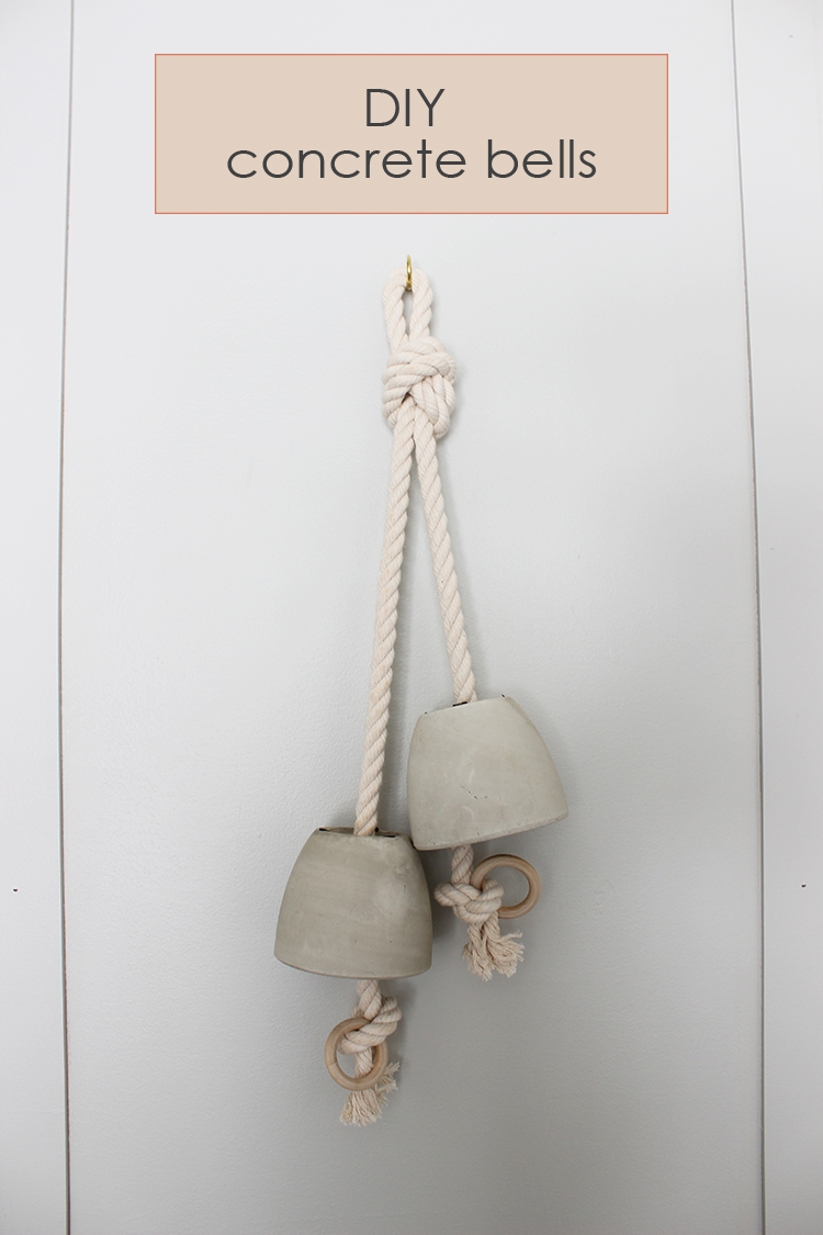 Diy Concrete Bells Lauren Koster Creative