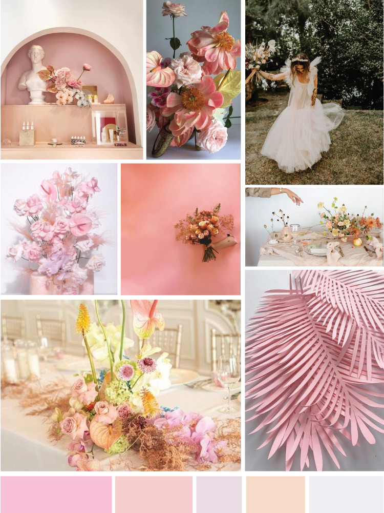 Shades of Pink Mood Board
