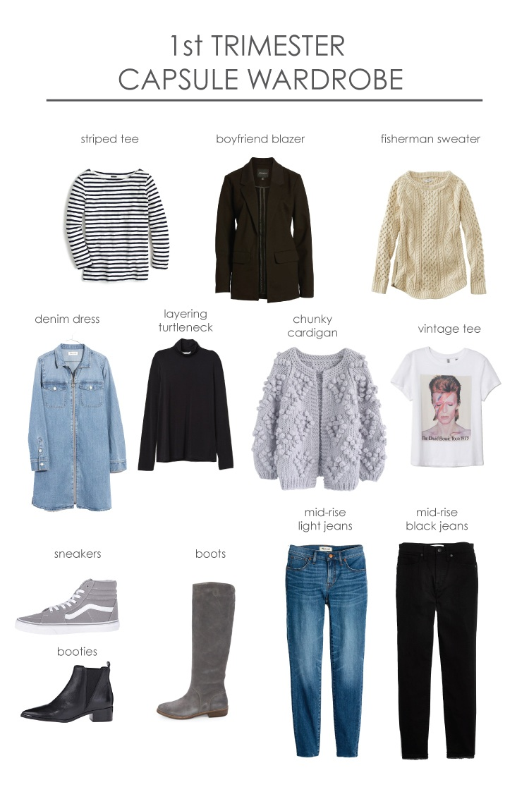 First+Trimester+Capsule+Wardrobe