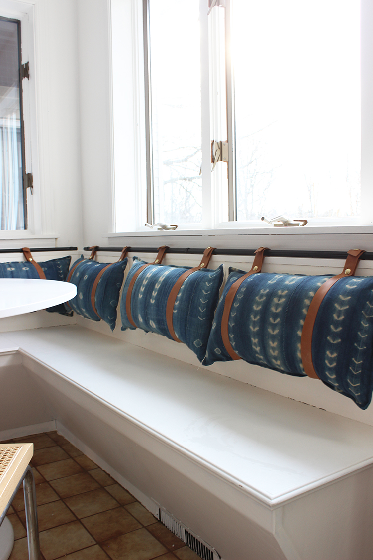 DIY Reversible Banquette Cushions