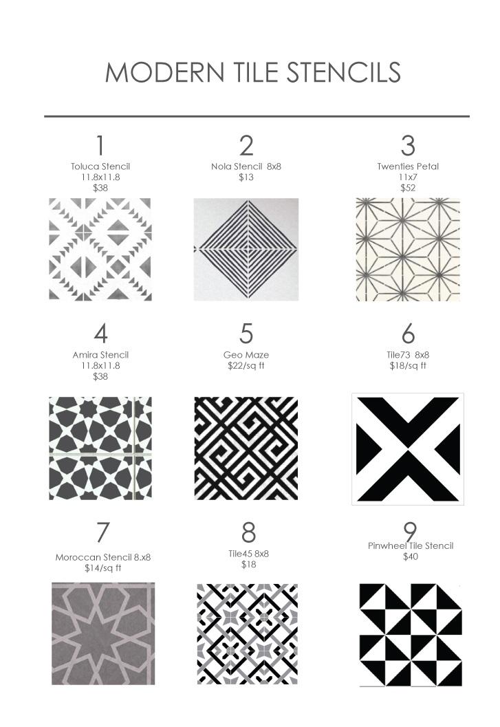 Modern Tile Stencils