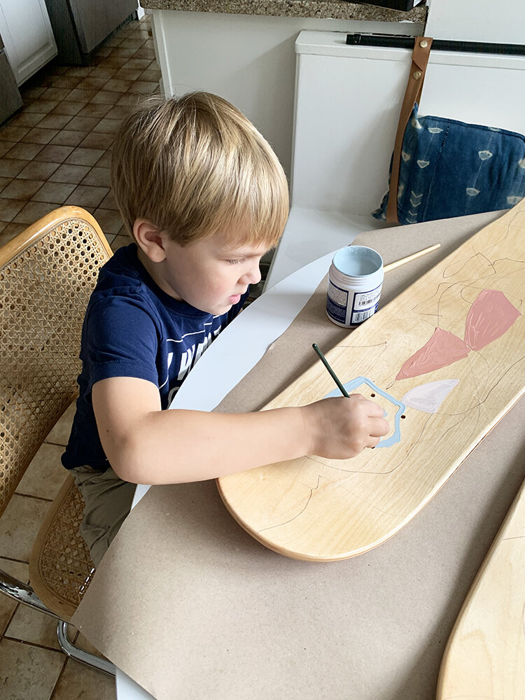 Kid-Friendly DIY Color Block Art
