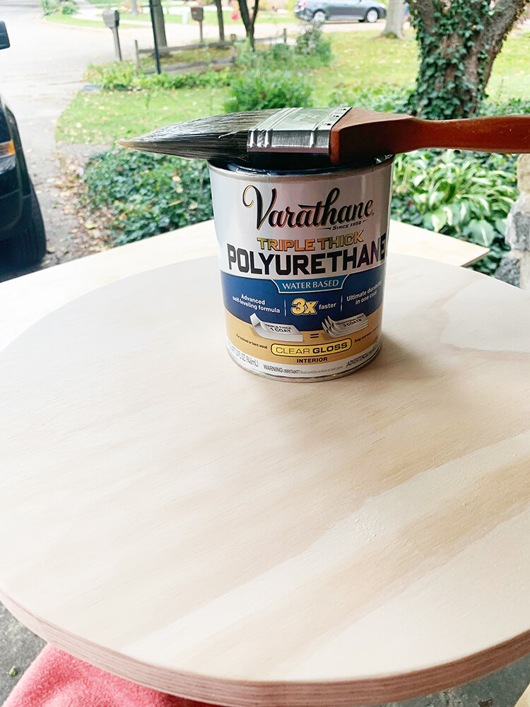 DIY plywood side table