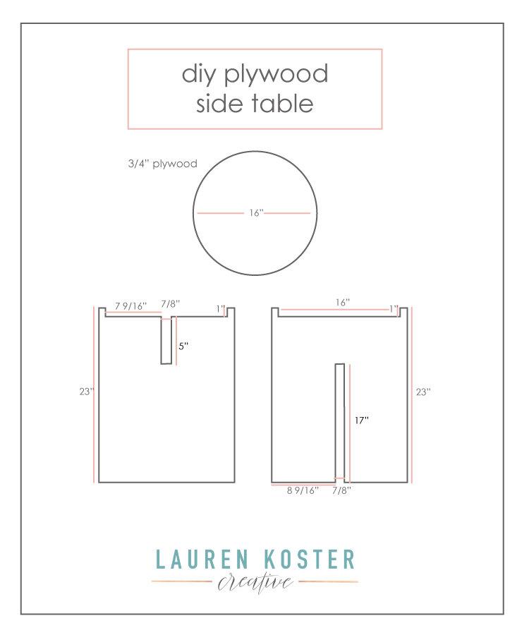 DIY Plywood Side Table Tutorial