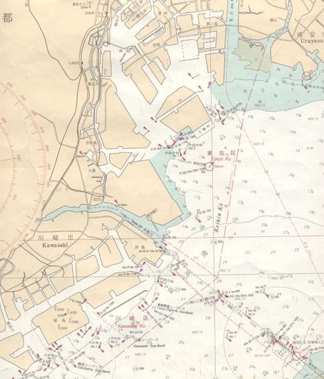 東京発 合同乗船散骨 海図データ