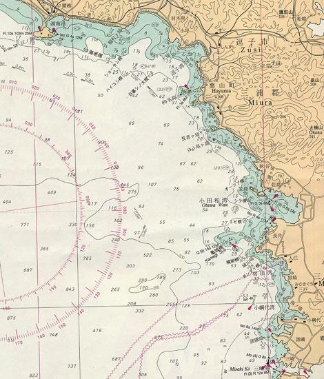 神奈川県 江ノ島発散骨海図データ