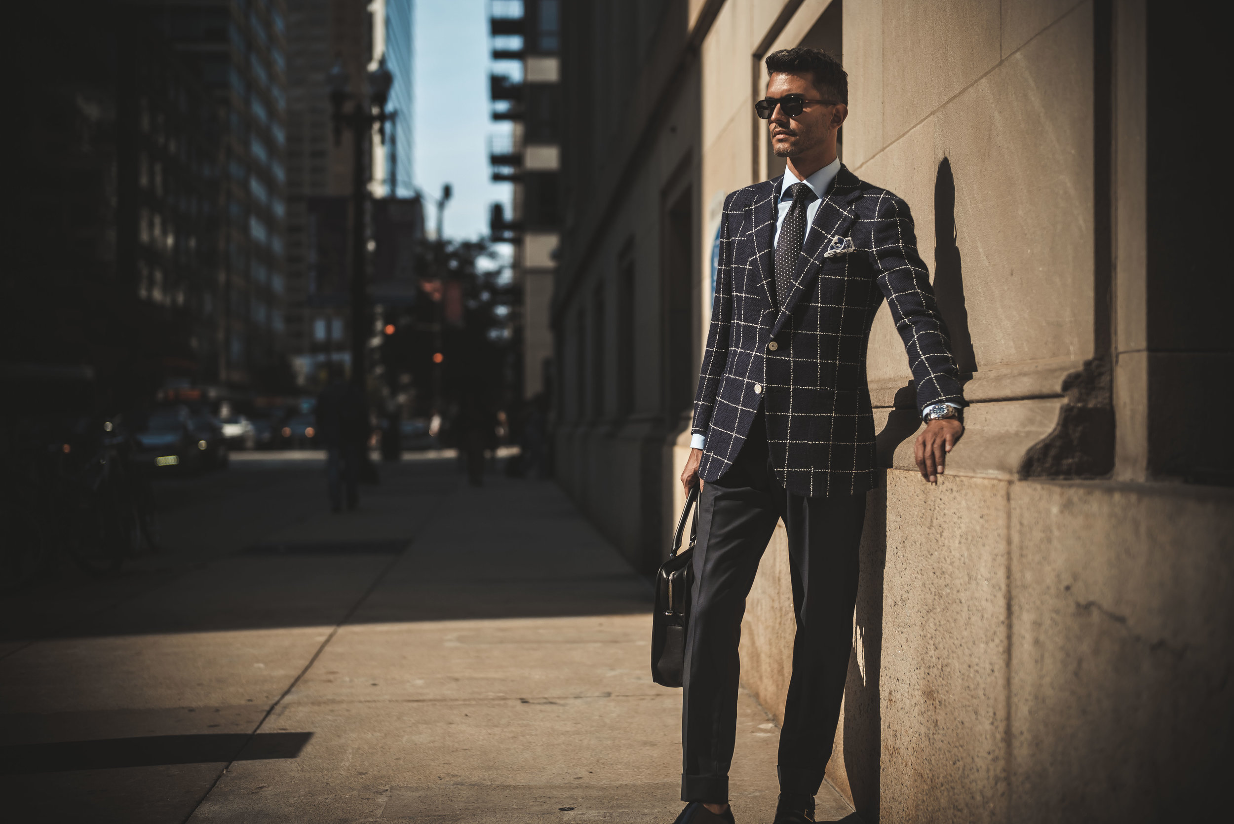 TRUE BESPOKE - Each suit is cut to your individual pattern to ensure the perfect fit. Our team of pattern makers boasts over 100 years of experience in designing the perfect silhouette for any build.