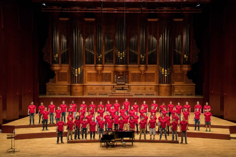 The Glee Club on the stage of the National Concert Hall
