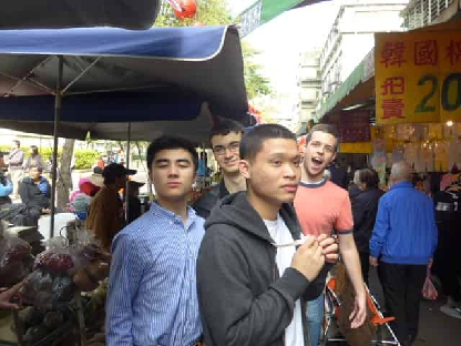 Gleeks tour the nearby fruit market