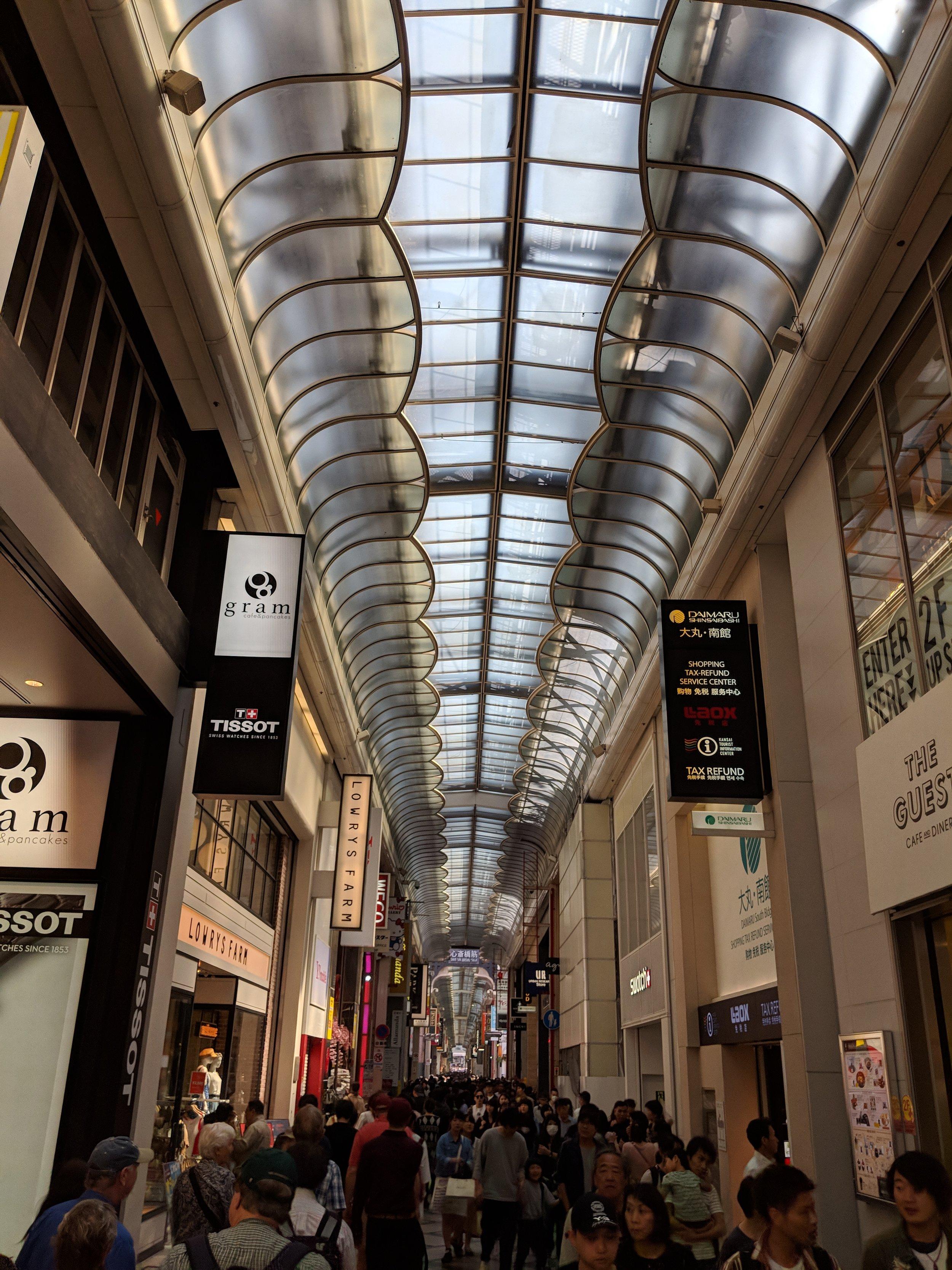 Shinsaibashi shopping district in Osaka