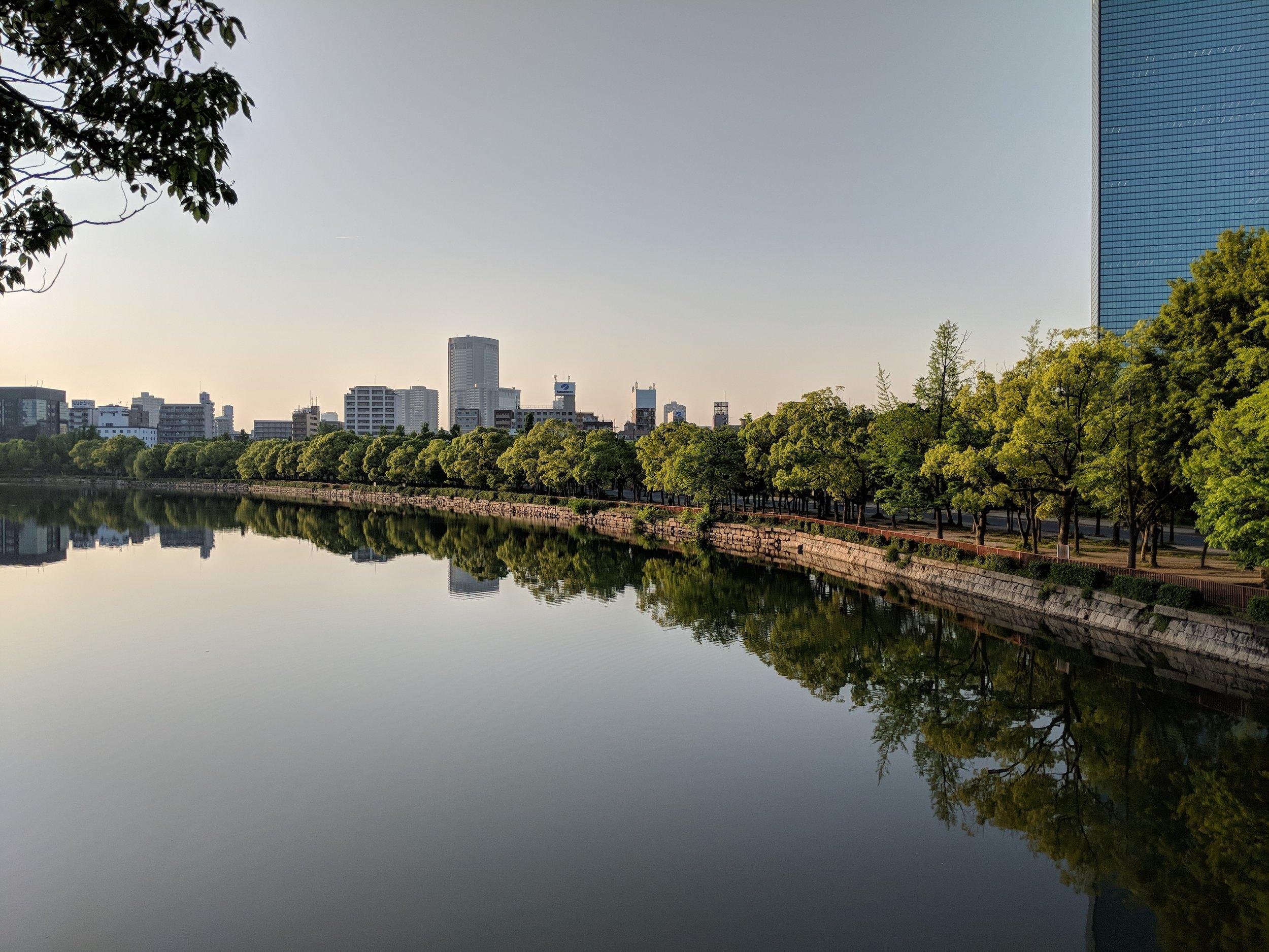 Moat surrounding Osaka Castle