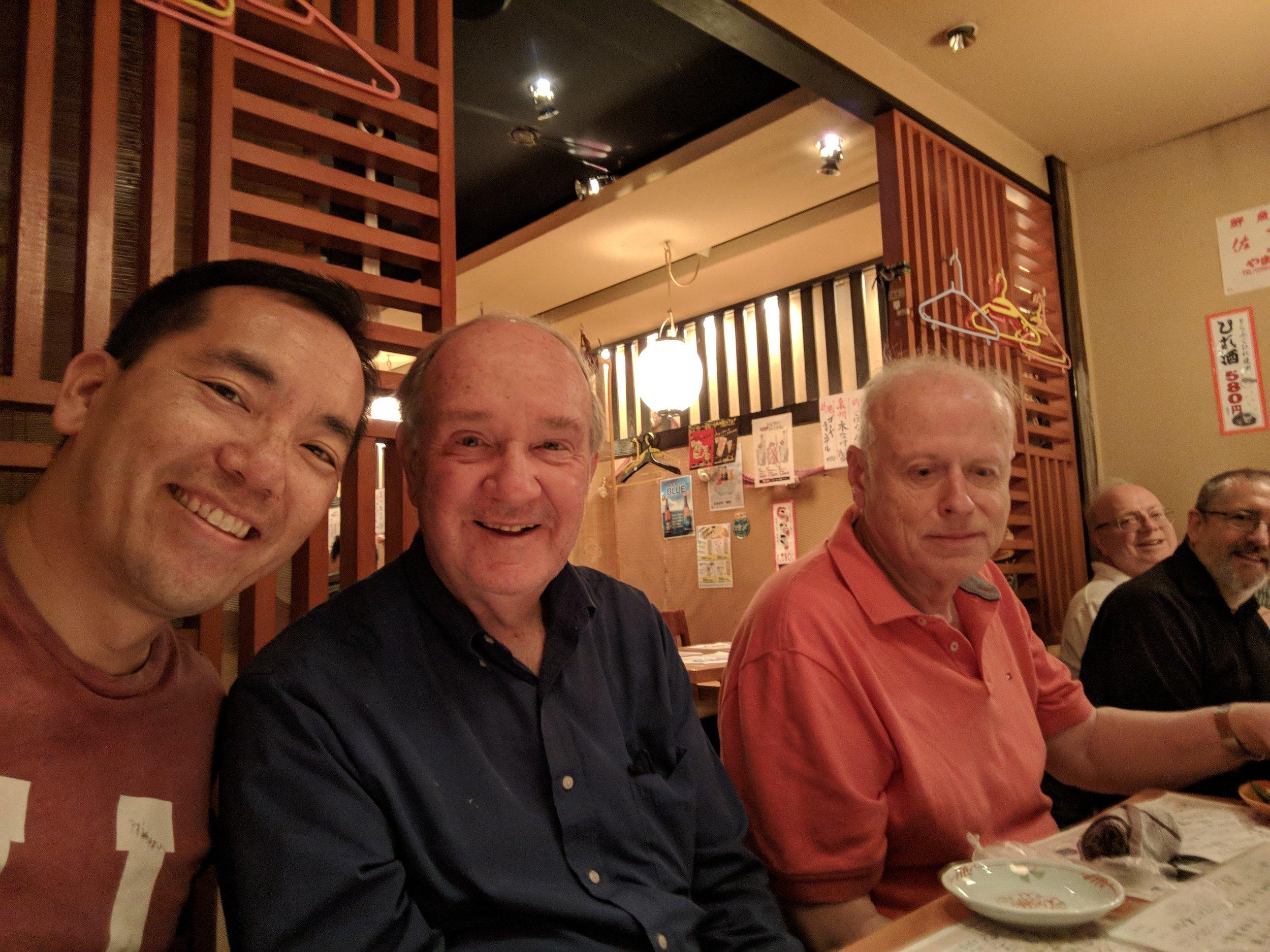 Enjoying a great seafood dinner at Sakanaya in Osaka