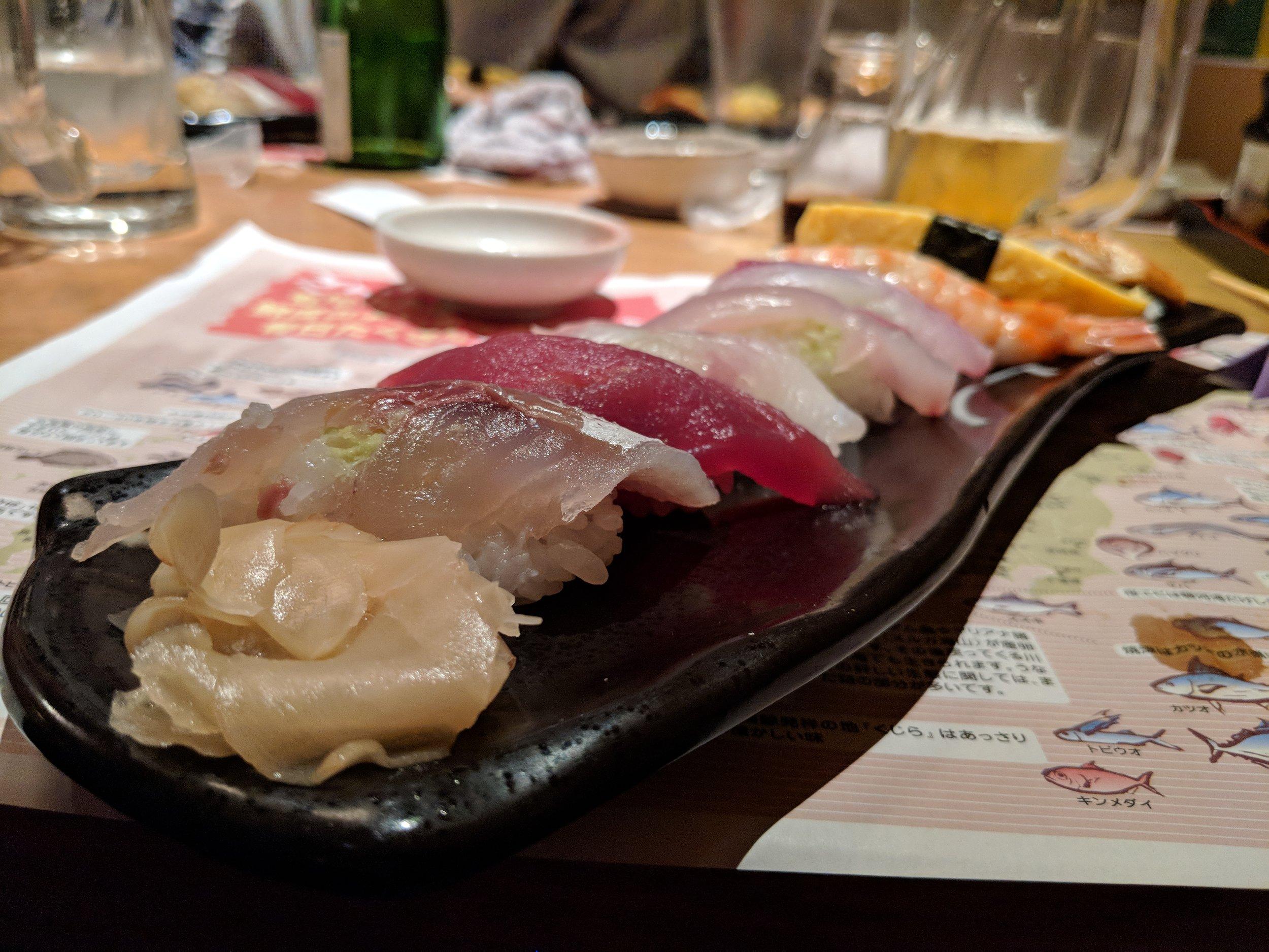 Heavenly sushi at Sakanaya in Osaka