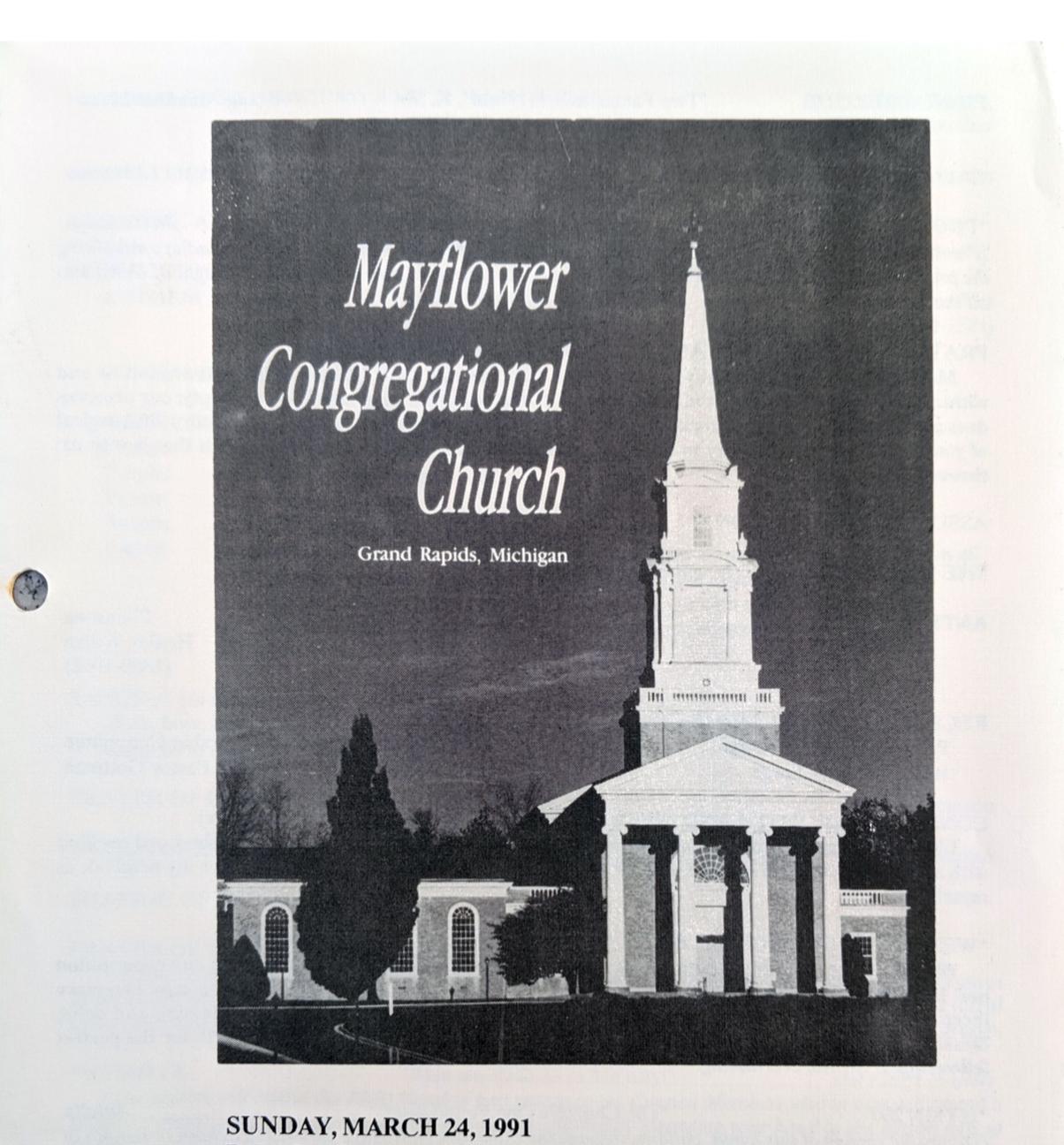 Mayflower Church service 91