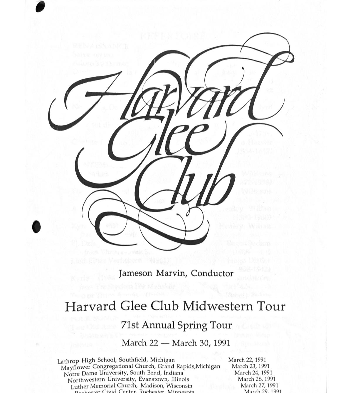 HGC tour program 91