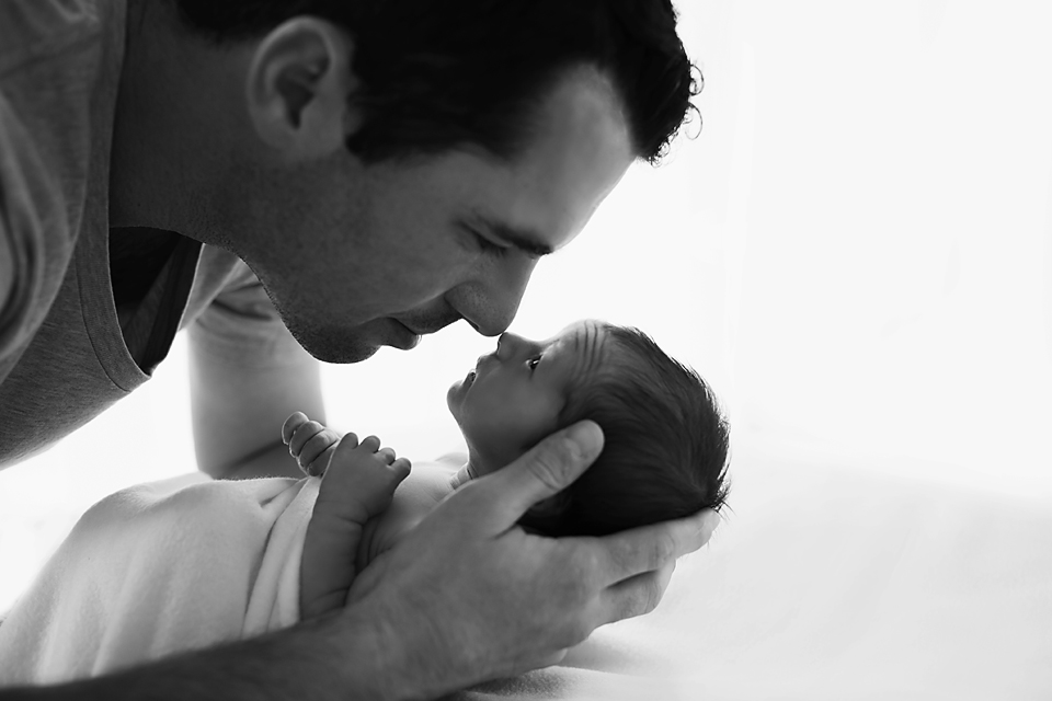 Father and Daughter - Melbourne newborn photographer
