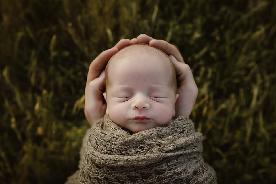 Outdoor newborn photography South Gippsland