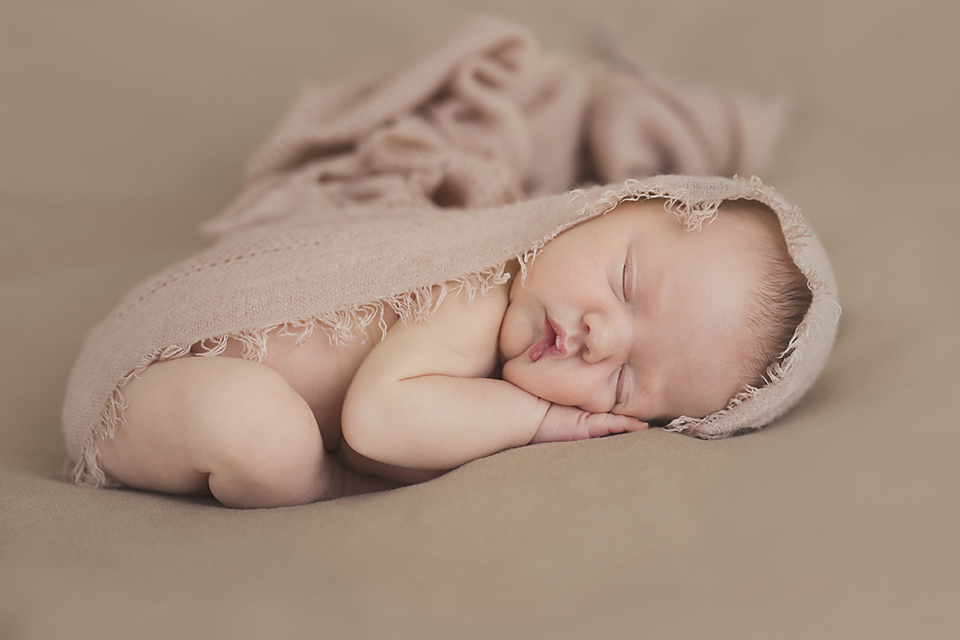 Baby girl - natural newborn photography Melbourne