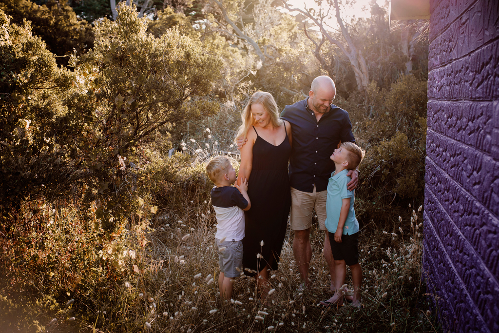 Family moments at rosebud beach on mornington peninsula