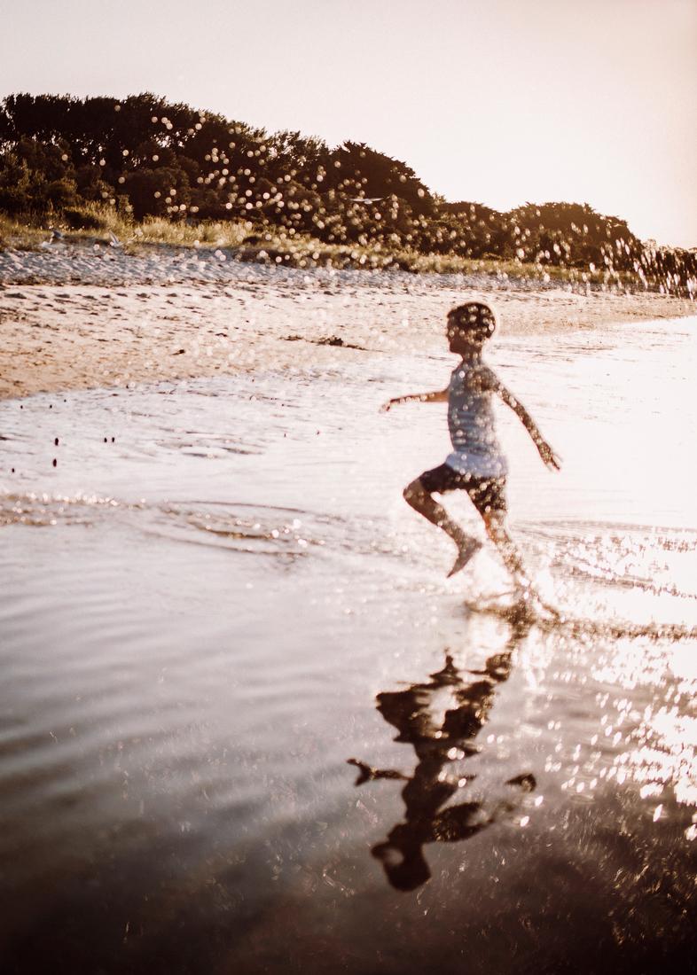 family photography on the Mornington Peninsula chasing seaguls