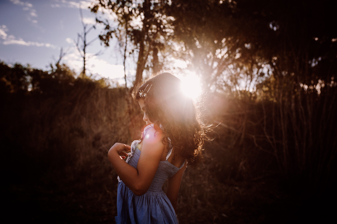 family photography south gippsland - sun flare - summer - daughter