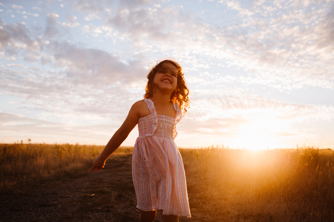 sunset dancing - Melbourne family photographer - Tooridan