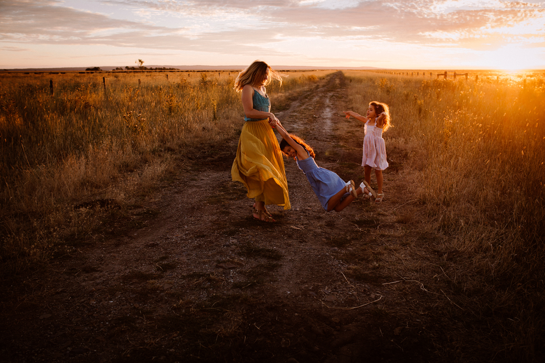 Mother and daughter - dancing - sunset - Melbourne family photographer