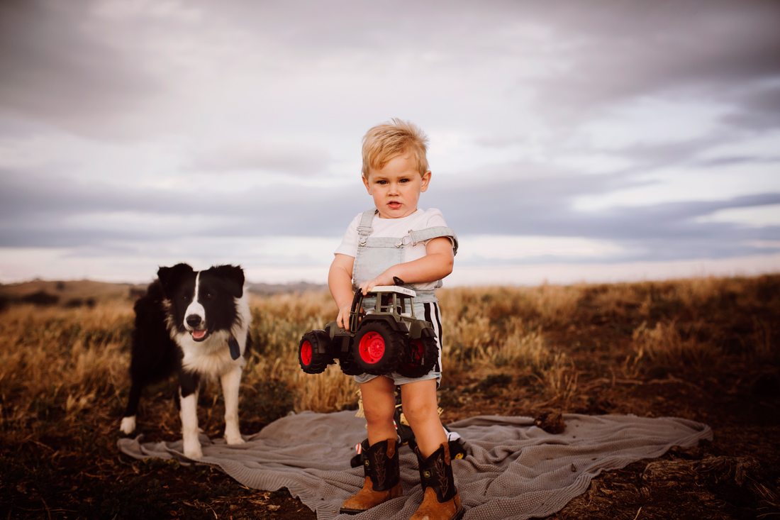 A boy and his dog - family shoot - South Gippsland