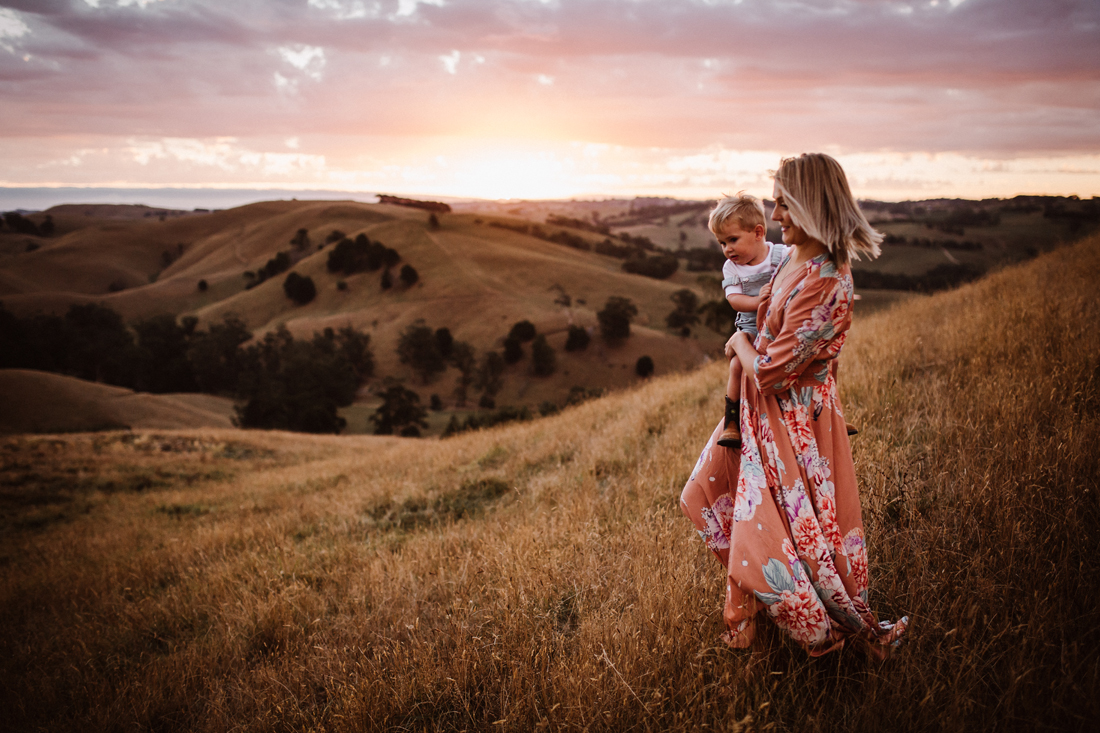 sunset -  golden hour - family photography melbourne