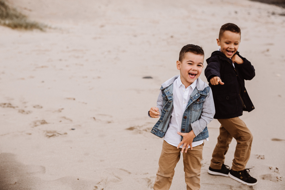 Melbourne lifestyle family photography - brothers - laughing - beach photography