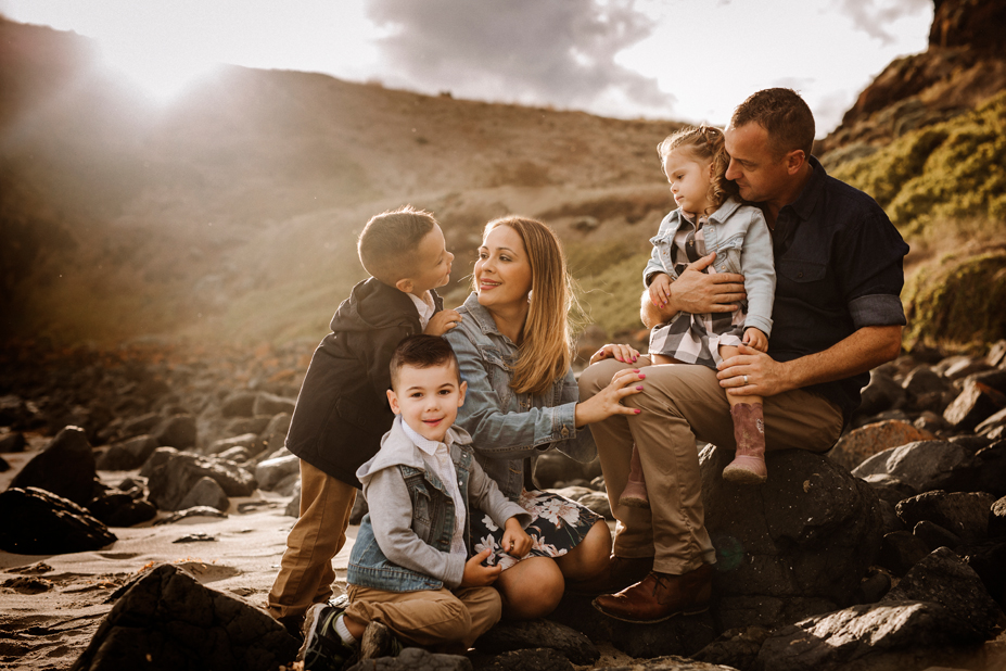 Melbourne family photographer - Berwick family photography - Flinders - beach - family connection