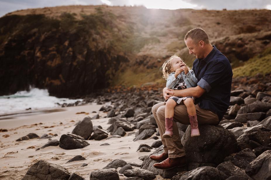Melbourne family photographer - Berwick family photography - Mornington Peninsula - father and daughter