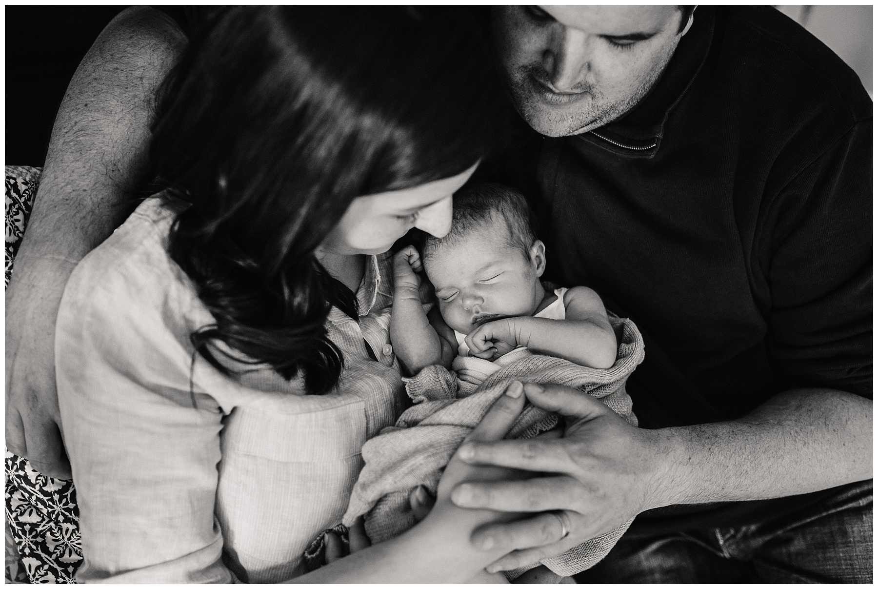 baby snuggles - natural newborn photography Melbourne