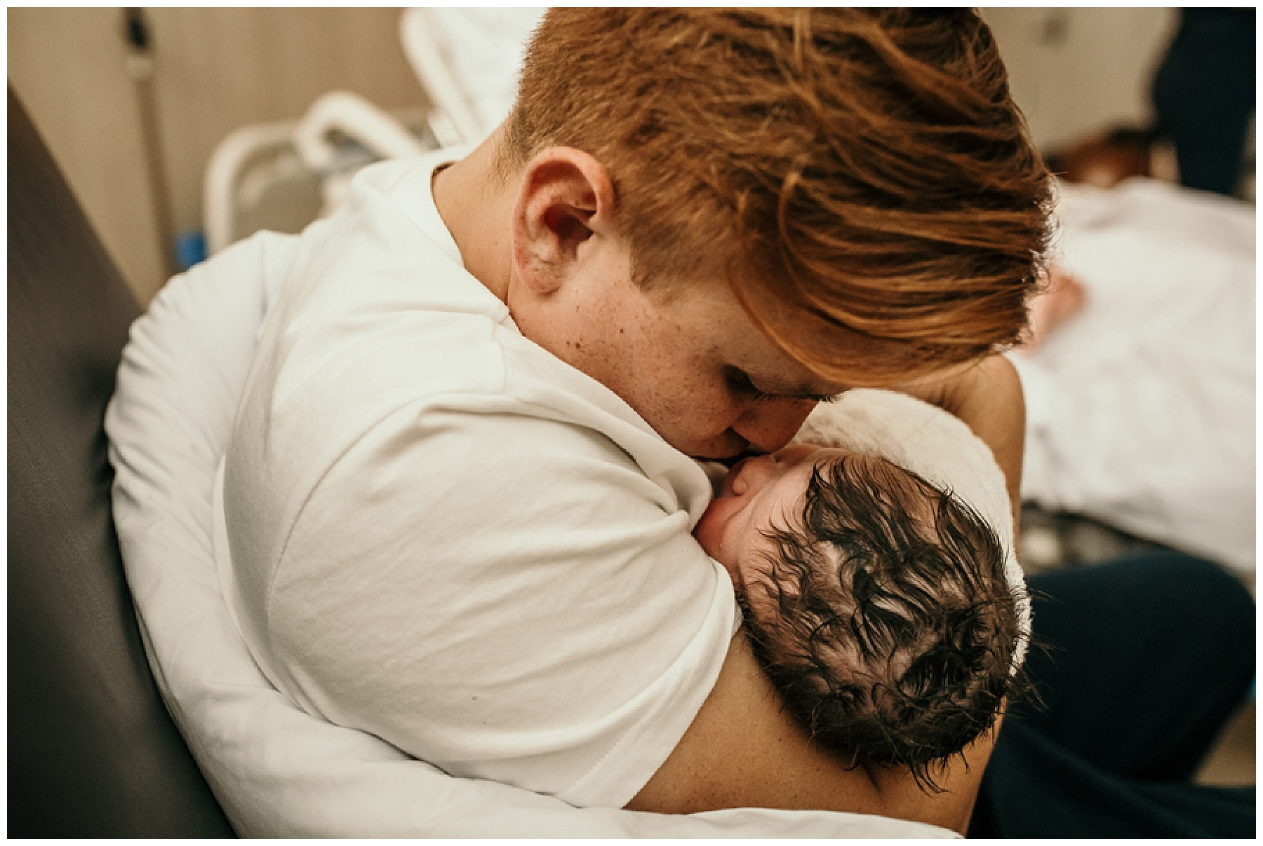 birth - warragul birth photography - father and son