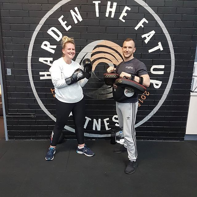 Repost by @reposta.app_ with head Trainer @mconnorfitness ——— First time on pads for Janelle this morning 🥊 then strength & conditioning 💪🏼she absolutely killed it 😎