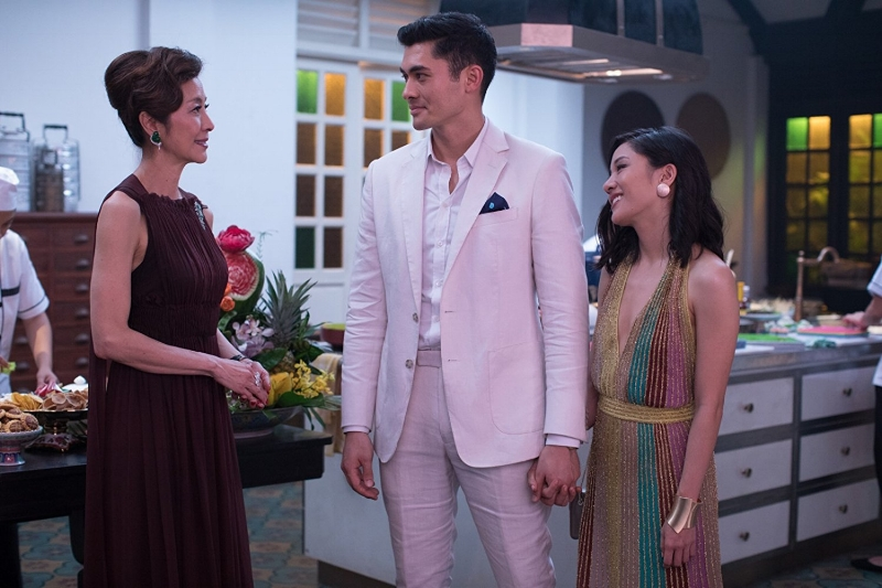 Lifestyles of the Crazy Rich: Michelle Yeoh, Henry Golding and Constance Wu put on their game faces as the women pit themselves against each other.