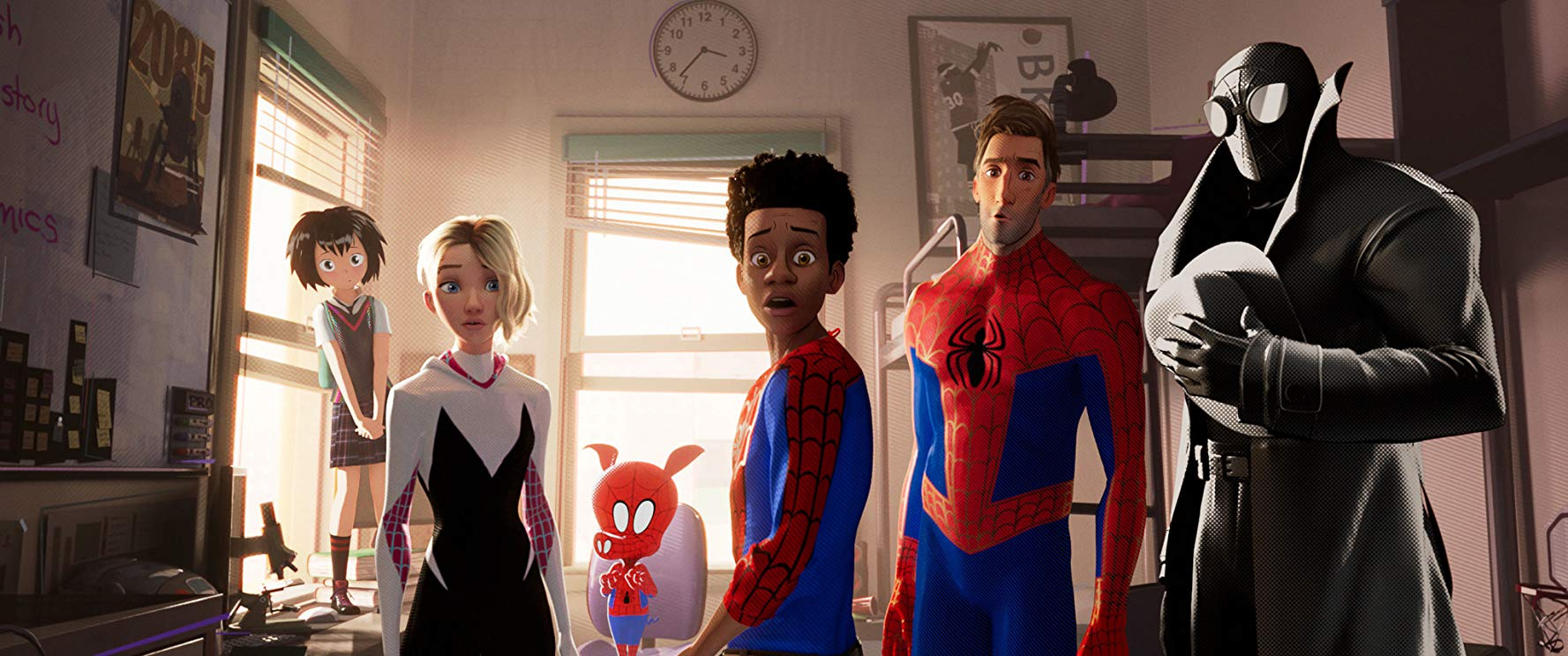Diversity in action: the Spider-Verse gang.