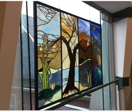 Lovely stained glass window on the mezzanine floor.