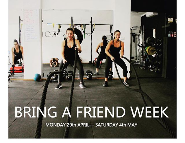 FRIENDS THAT TRAIN TOGETHER GAIN TOGETHER 👊🏼 Nothing better to motivate you through the colder weather than a training buddy! Starting next week 29th April- 4th of May  It's BRING A FRIEND WEEK🏃‍♂️🏃‍♀️🏋️‍♀️🏋🏻‍♂️ Bring a friend for a free session,if they join up you will both receive 15% off your packs.🙌🏼 This is for both  group and personal training. Start spreading the word and get tagging, share this post to your friends and join our G-fit family you won't regret it.#workoutbuddy #getfittogether #grouptraining #personaltraining #gymmotivation