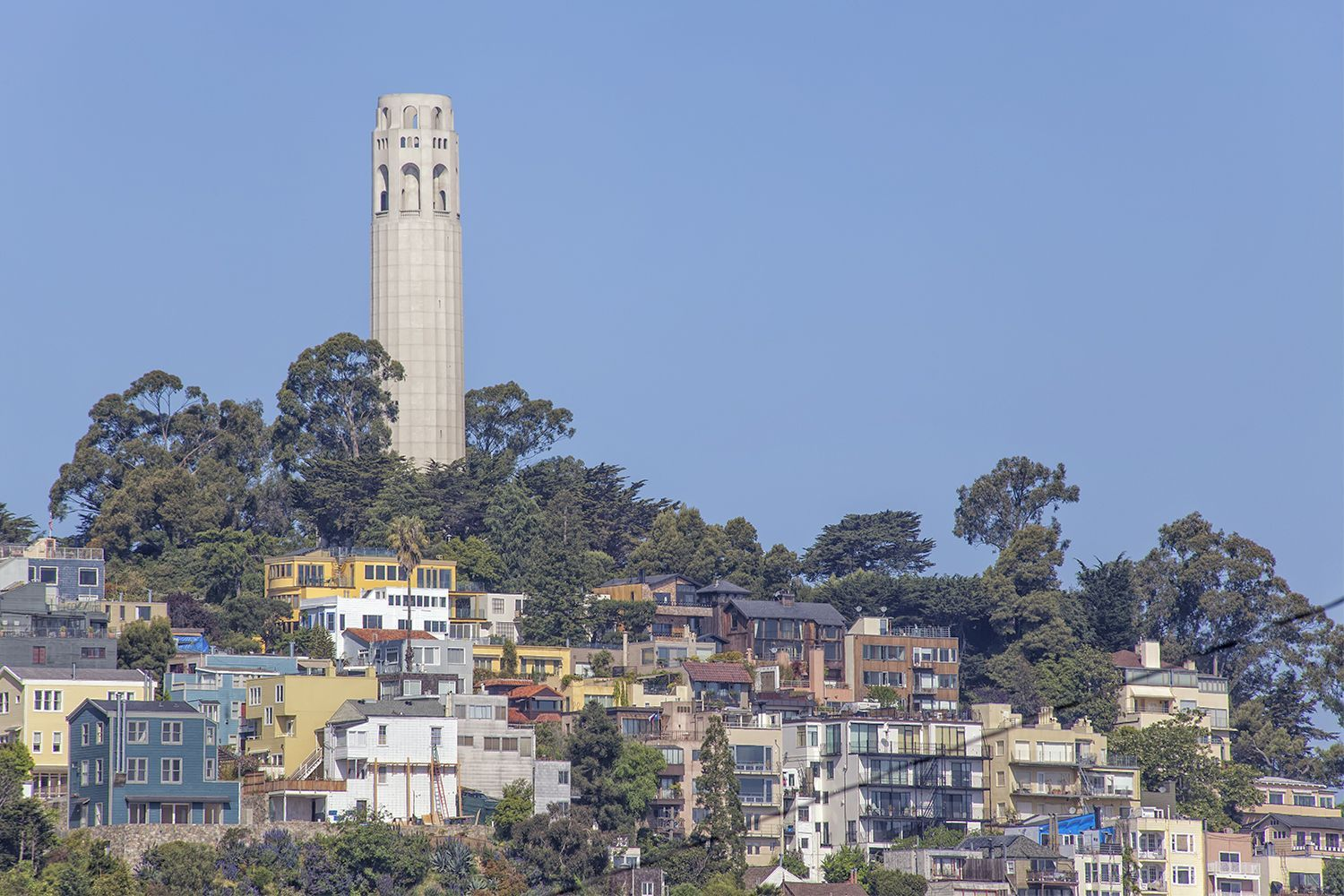 Coit Tower   Coit Tower is an unmistakable part of the city's skyline, sitting at the top of Telegraph Hill. If you make your way to the top, you'll get a beautiful 360 view of the city.   More Info On Coit Tower Here
