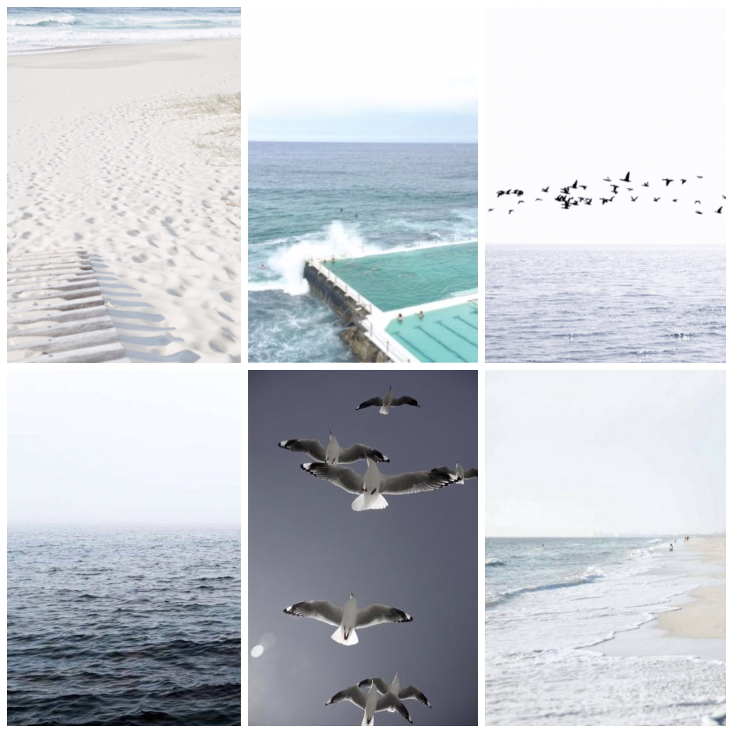 1. AN AFTERNOON BY THE SEA - https://www.oliveetoriel.com/collections/photographic/products/an-afternoon-by-the-sea   2. BONDI ICEBERGS POOL - http://www.printbot.net.au/product/bondi-icebergs-print-poster/   3. ATLANTIC PT - https://www.oliveetoriel.com/collections/photographic/products/atlantic-pt   4. OCEAN BREEZE - https://www.artandframingco.com.au/ocean-breeze.html   5. GULLS - https://lamingtonpress.com.au/collections/land-store/products/gulls?variant=35480948882   6. AWASH - https://www.artandframingco.com.au/awash.html