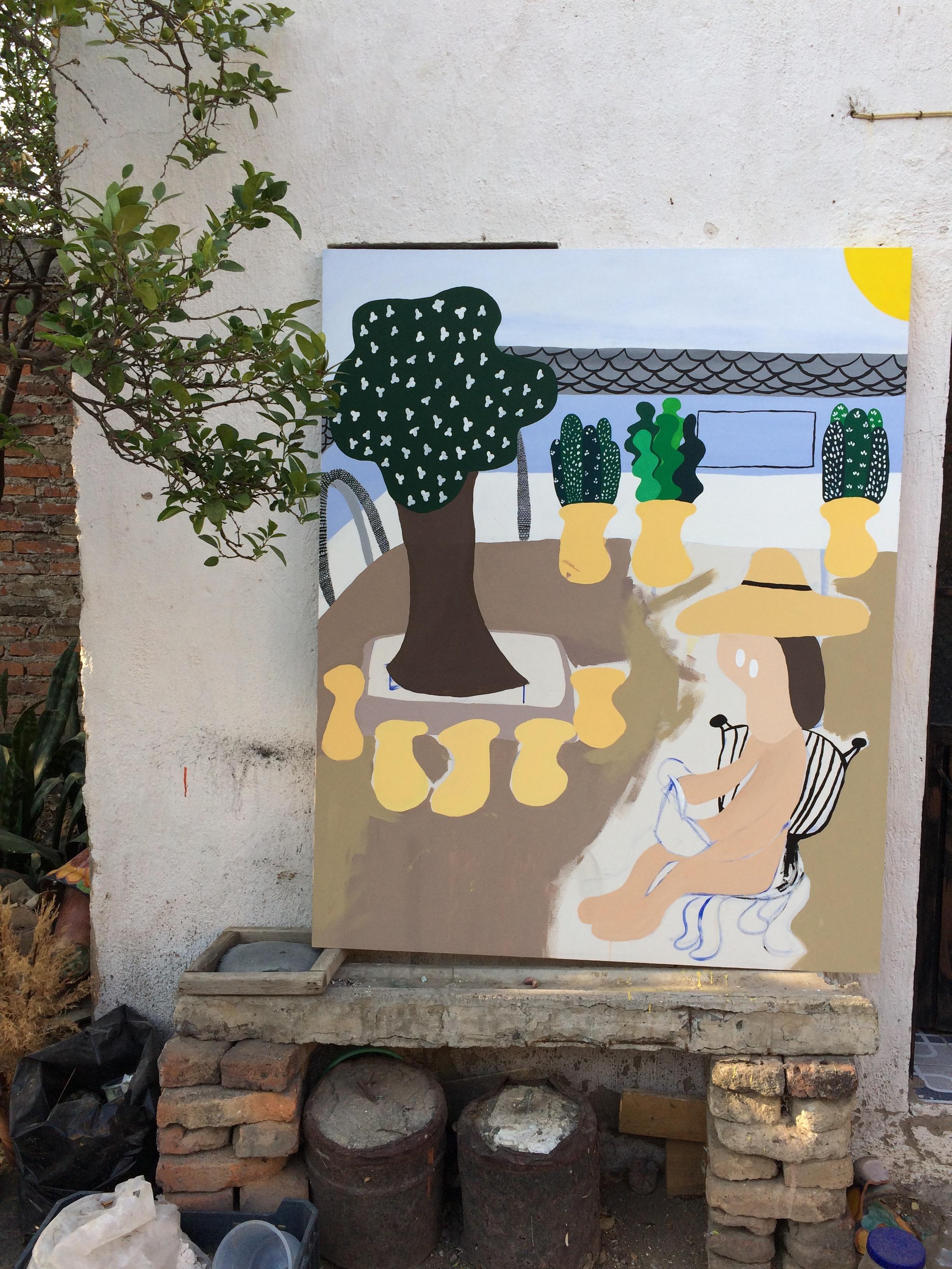 """Untitled."" Acrylic on canvas, 2017."