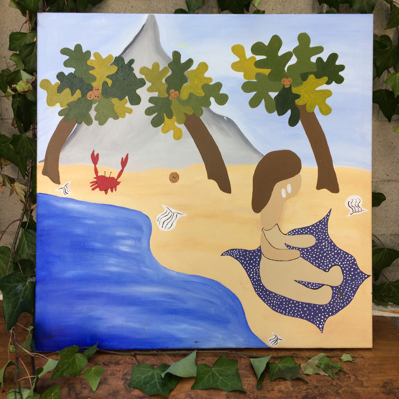 """En vallarta."" Acrylic on canvas, 2017."