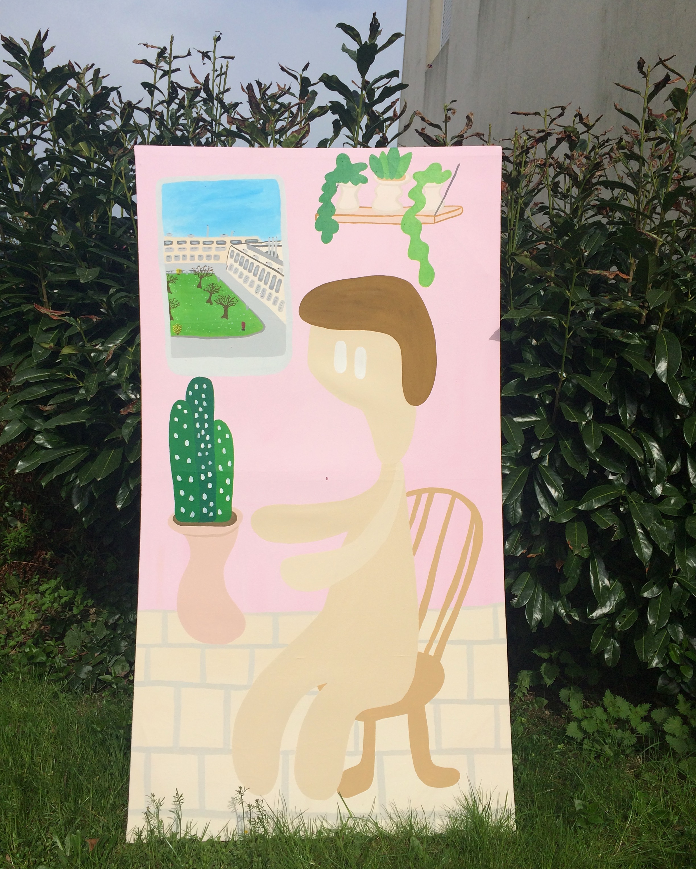 """Mon sejour."" Acrylic on canvas. 2018."