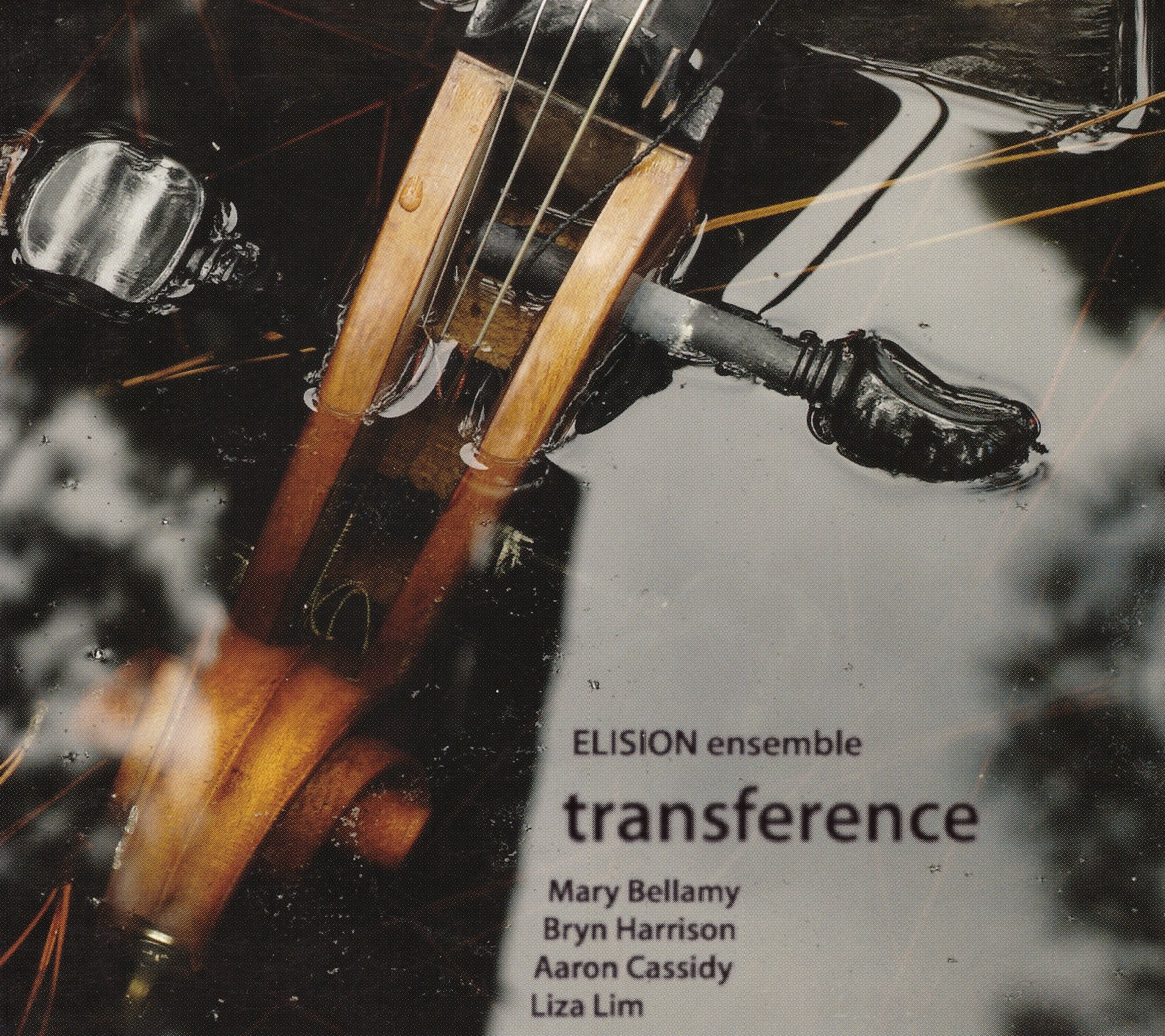 transference – ELISION Ensemble  • And the scream, Bacon's scream, is the operation through which the entire body escapes through the mouth (or, Three Studies for Figures at the Base of a Crucifixion) – Aaron  Cassidy ° • Songs Found in Dream – Liza  Lim ° • surface forms (repeating) – Bryn  Harrison °    ORDER