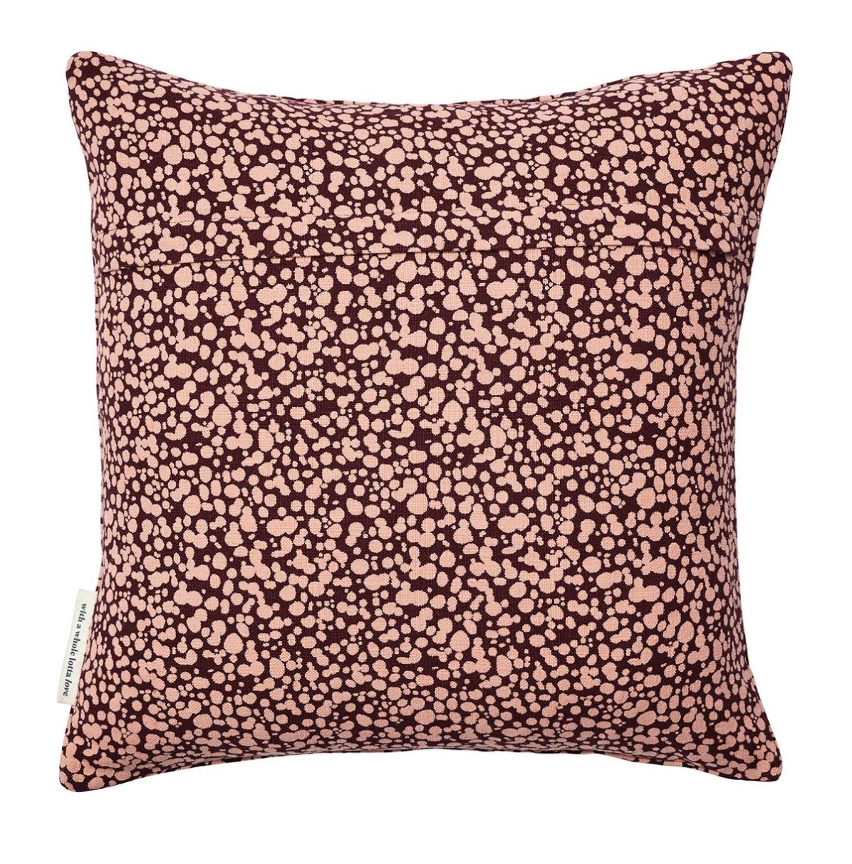 Natasha Folk Embroidered Cushion - Sage & Clare