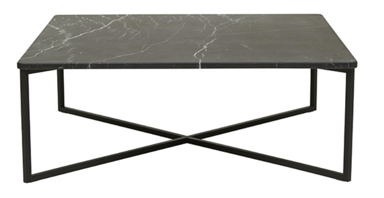 Globe West - Elle Luxe Square Coffee Table